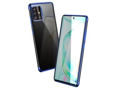 Силиконов калъф  с лайсна - CLEAR Samsung Galaxy A51 Blue