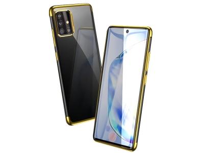 Силиконов калъф  с лайсна - CLEAR Samsung Galaxy A51 Gold