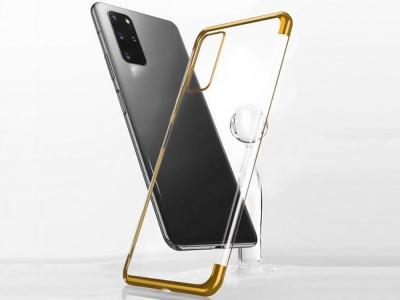 Силиконов калъф  с лайсна - CLEAR Samsung Galaxy S20 Gold
