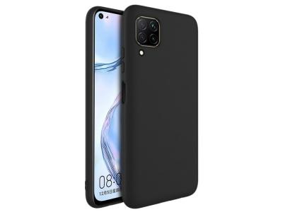 Силиконов гръб matte за Huawei P40 Lite, Черен
