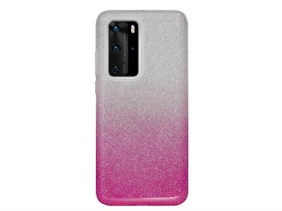 Силиконов Гръб BLING за Huawei P40 Pro, Розов