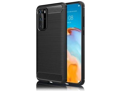 Силиконов гръб Carbon Fibre за Huawei P40 Pro, Черен