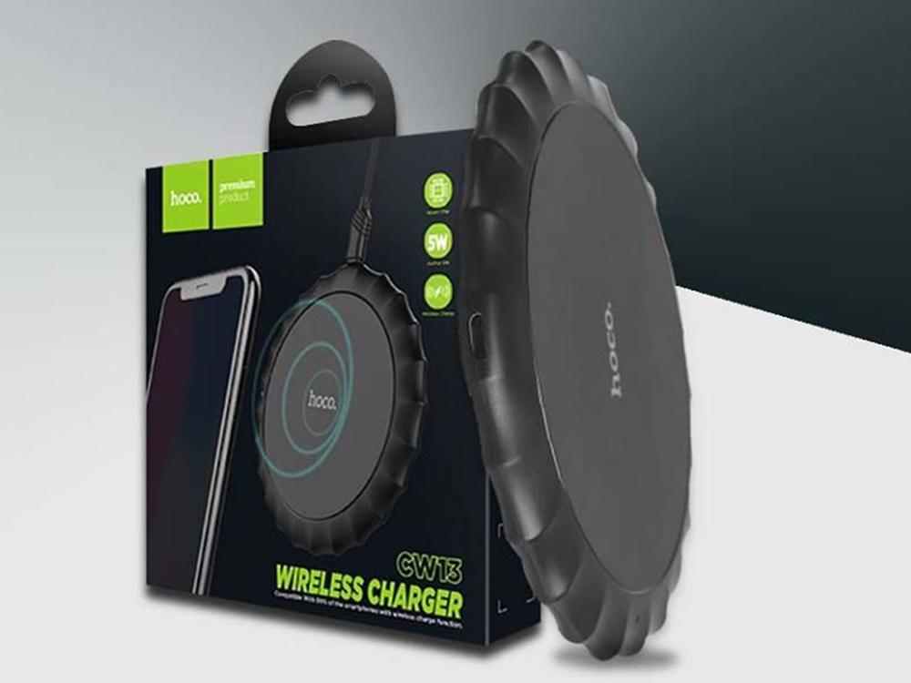 Безжично зарядно устройство Wireless HOCO CW13 Sensible 2.0A, Черен