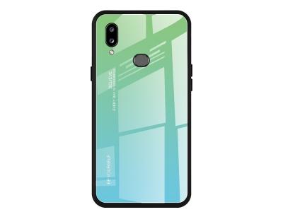Стъклен Гръб Glass за Samsung Galaxy A10s, Зелен/ Син
