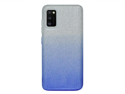 Силиконов Гръб SHINING за Samsung Galaxy A41, Сребрист/ Син