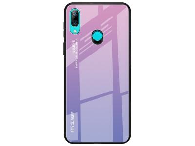 Стъклен Гръб Glass за Huawei P Smart Z, Розов/ Лилав
