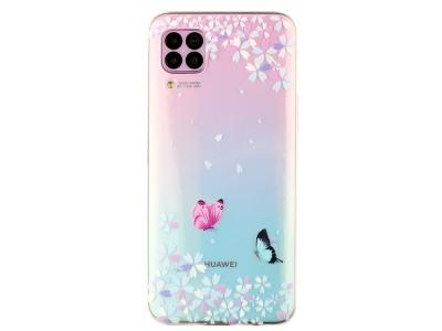 Силиконов гръб за Huawei P40 lite/nova 7i/nova 6 SE, Пеперуди и Цветя