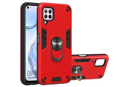 Удароустойчив Гръб Kickstand за Huawei Nova 6 SE/7i/P40 Lite, Червен