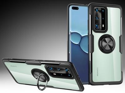 Пластмасов гръб CARBON RING за Huawei P40 Pro, Черен