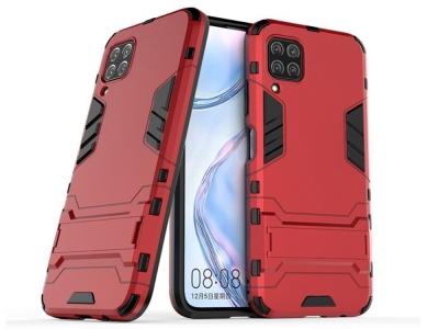 Удароустойчив гръб с Поставка за Huawei P40 Lite, Червен