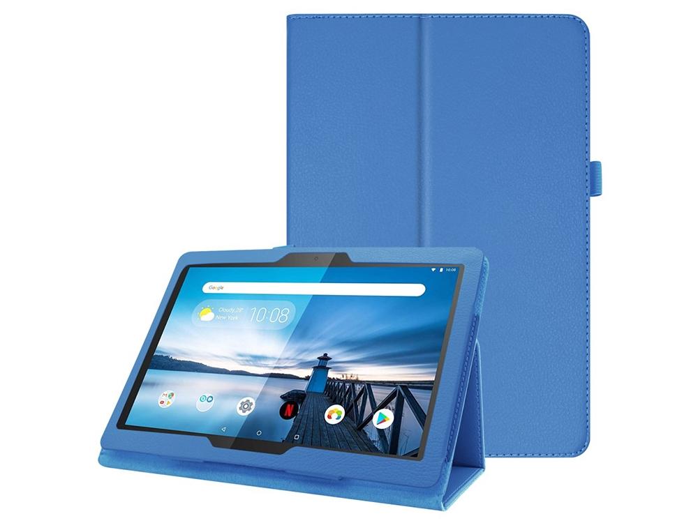 Калъф Тефтер Litchi за Lenovo Tab M10 TB-X605F, Син