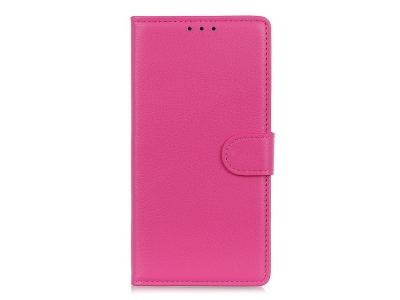Калъф Тефтер Litchi за Huawei P40 lite / nova 7i / nova 6 SE, Розов