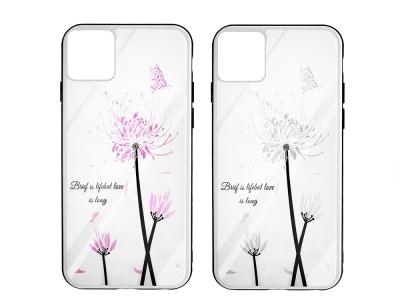 Стъклен Гръб Glass Magic за Iphone 11 Pro, Цвете и Пеперуда