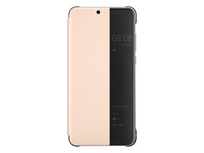 Калъф тефтер View Cover за Huawei P30 Lite / Nova 4e, Розов- Черен