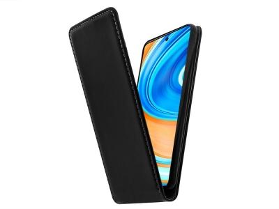 Калъф тефтер Slim Flexy за Xiaomi Redmi Note 9 Pro / Note 9S, Черен