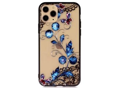 Удароустойчив гръб Lace Flower за Iphone 11 Pro, Сини Пеперуди