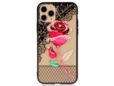 Удароустойчив гръб Lace Flower за Iphone 11 Pro Max, Роза
