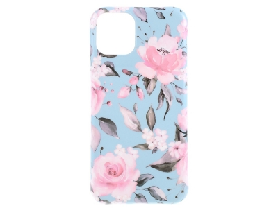 Силиконов Гръб Flower за iPhone 11, Розово цвете