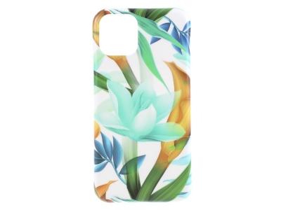 Силиконов Гръб Flower за iPhone 11, Зелени цветя