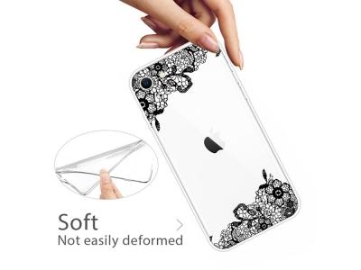 Силиконов Гръб за iPhone 7 / iPhone 8 / iPhone SE (2020), Орнаментни цветя