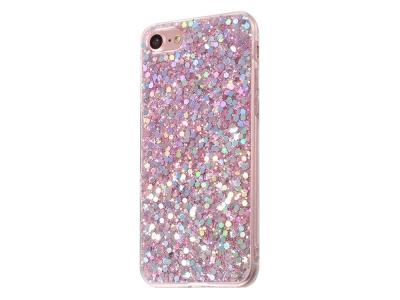 Силиконов Гръб Glitter за iPhone 7 / iPhone 8 / iPhone SE 2020, Розов