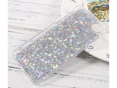 Силиконов Гръб Glitter за iPhone 7 / iPhone 8 / iPhone SE 2020, Сребрист