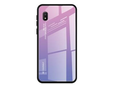 Стъклен гръб Glass за Samsung Galaxy A10e /A20e, Розов- Ливав