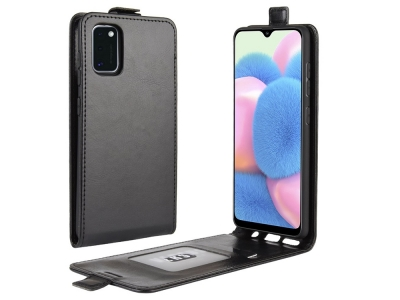 Калъф Тефтер Crazy Horse за Samsung Galaxy A41, Черен