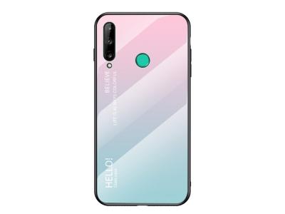 Стъклен гръб Glass за Huawei P40 Lite E/Y7P, Розов- Син
