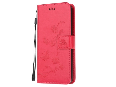 Калъф Тефтер Butterfly за Huawei P40 lite E/Y7p/Honor 9C, Червен