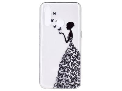 Силиконов гръб Matte за Huawei P40 Lite E/Y7P, Пеперуди и момиче