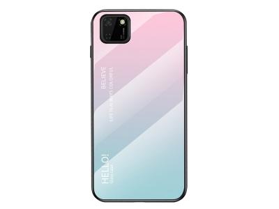 Стъклен гръб Glass за Huawei Y5p/Honor 9S, Розов- Син
