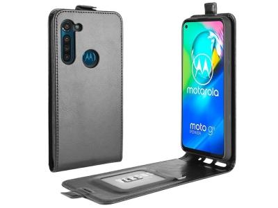 Калъф Тефтер Crazy Horse за Motorola Moto G8 Power, Черен
