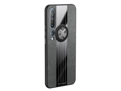 Удароустойчив Гръб Metal Kickstand за Xiaomi Mi 10/Mi 10 Pro, Сив