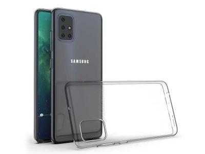 Силиконов гръб Jelly Mercury за Samsung Galaxy A51, Прозрачен