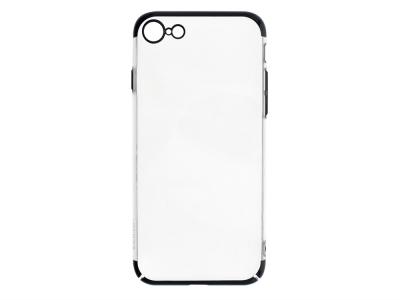 Пластмасов гръб PC29 за iPhone 7 / iPhone 8 / iPhone SE 2020, Прозрачен-Черен
