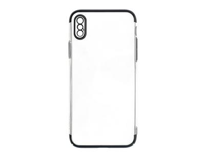 Пластмасов гръб PC29 за iPhone X / Xs, Прозрачен-Черен