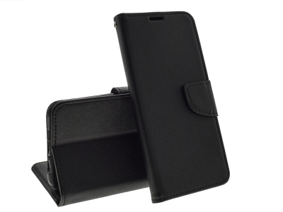 Калъф Тефтер Fancy за Huawei P Smart Z, Черен