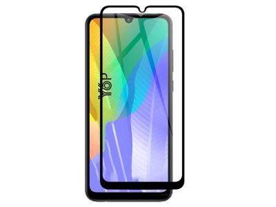 Стъклен Протектор 9D Full за Huawei Y6P (2020), Черен
