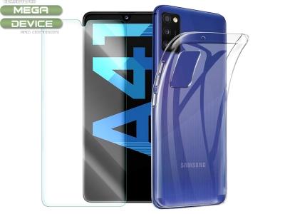 Комплект Стъклен протектор + Силиконов гръб Samsung Galaxy A41