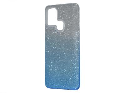 Силиконов Гръб SHINING за Samsung Galaxy A21S, Сребрист/ Син