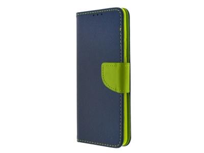 Калъф Тефтер Fancy за Samsung Galaxy A31, Син/Зелен