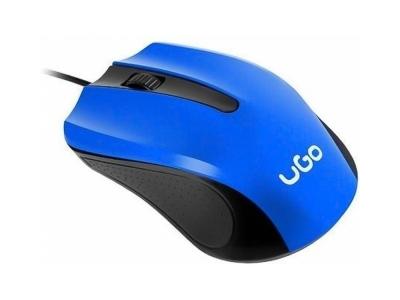 Мишка uGo UMY-1215 Оптична 1200dpi, Син/ Черен