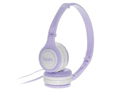 Слушалки с микрофон CASNI - CS-28, Лилав