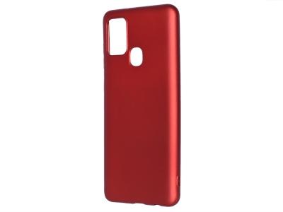 Силиконов гръб Level за Samsung Galaxy A21S, Червен