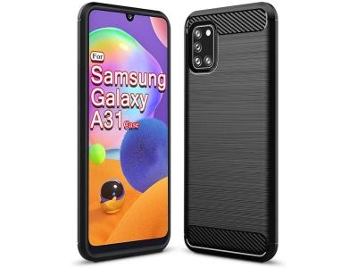 Силиконов гръб Carbon за Samsung Galaxy A31, Черен