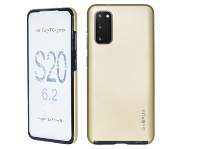 360 Градуса Калъф за Samsung Galaxy S20, Златист