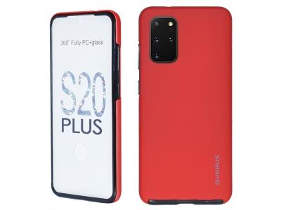 360 Градуса Калъф за Samsung Galaxy S20 Plus, Червен