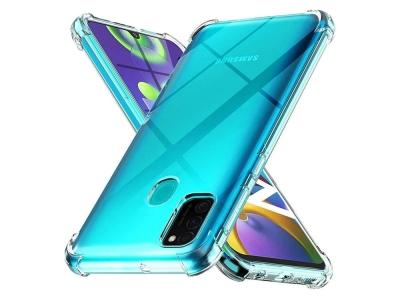 Силиконов Гръб Drop-resistant за Samsung Galaxy A21s, Прозрачен
