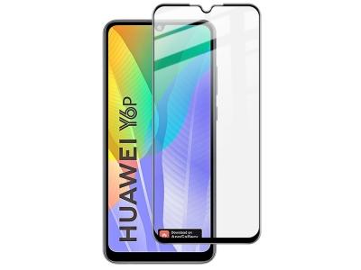 Стъклен Протектор 5D Full Glue за Huawei Y6p, Черен